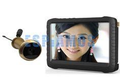 Camara espia inalambrica de baja luminosidad para las mirillas de puerta. Se puede conectar al TV para ver las imágenes en tiempo real.