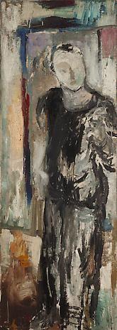 """""""Frank O'Hara,"""" oil on linen,  1951"""