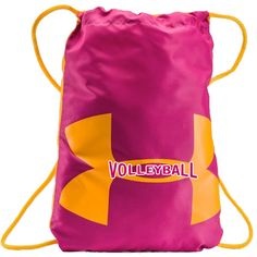 Under Armour Ozsee Volleyball Sackpack - Pink Orange  14.99 Sporttáska 46b1e788c3