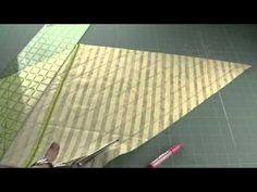 Video of how to make continuous bias tape from a fat quarter