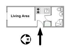 Paris Studio T1 logement location appartement - plan schématique  (PA-4420)