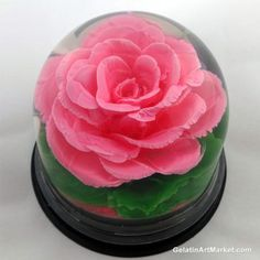 3D gelatin rose