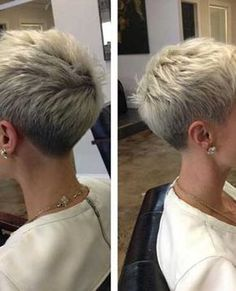 """How to style the Pixie cut? Despite what we think of short cuts , it is possible to play with his hair and to style his Pixie cut as he pleases. For a hairstyle with a """"so chic"""" and pointed… Continue Reading → Haircut For Older Women, Short Hair Cuts For Women, Short Hairstyles For Women, Short Cuts, Modern Hairstyles, Short Pixie Haircuts, Pixie Hairstyles, Haircut Short, Choppy Haircuts"""