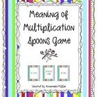 This activity provides you with 54 game cards for the game SPOONS.  Students have to match the multiplication, division, and repeated addition card...