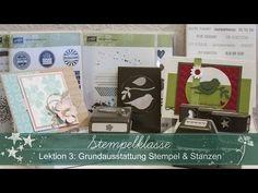 ▶ Stempelklasse #03 - Grundausstattung Stempel und Stanzen - Stampin' Up! - YouTube