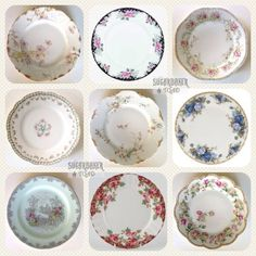 Tips for Collecting Mismatched China – Sugarbaker & Toad Antique Dishes, Antique Plates, Vintage Plates, Antique Decor, Vintage Dishes, Vintage China, Mismatched China Wedding, Mismatched Table Setting, Wedding China