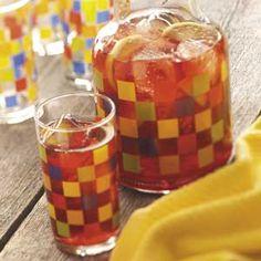 Iced Cranberry-Mint Tea to go with dinner  #tasteofhome #easterdinner