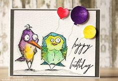 Birthday Birds by Rambling Boots - Cards and Paper Crafts at Splitcoaststampers