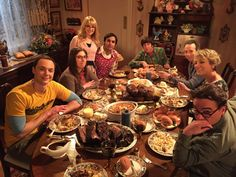 Join this gang for dinner and a show...an all new @BigBang_CBS tonight!!
