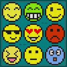 Emoticon Perler Bead Pattern Plus