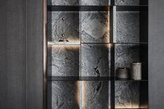 Shelving Design, Shelf Design, Cabinet Design, Cabinet Ideas, Lobby Interior, Interior Design Living Room, Apartment Interior, Black Interior Design, Contemporary Interior