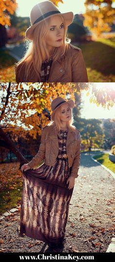 Outfit Inspiration - Maxikleid kombiniert mit Lederjacke - Entdecke jetzt den ganzen Look auf CHRISTINA KEY - dem Fotografie, Blogger Tipps, Fashion, Food und Lifestyle Blog aus Berlin