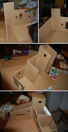 Pin by Isabel Guzman on Nativity Christmas Crib Ideas, Christmas Crafts, Christmas Decorations, Decoration Creche, Diy Nativity, Diy Christmas Nativity Scene, House Template, Putz Houses, Cardboard Crafts