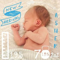 497107257 Welcome sweet little Asher 💙Download the Little Nugget® app to capture your  pregnancy
