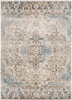 Royalty, Ivory Distressed Persian Oriental Rug | Area Rugs Cheap - Bargain Area Rugs