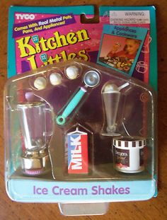Tyco Kitchen Littles Ice Cream Shakes Accessories Set | eBay