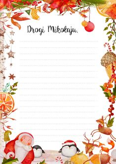 List do Świętego Mikołaja Christmas Time, Merry Christmas, Xmas, Christmas Background, Winter Time, Advent, Diy And Crafts, Presents, Bullet Journal