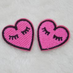 Shy love long eyelashes Embroidery Iron/sew on patch applique badge Motif badge…