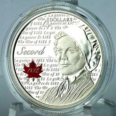 Canada 2013 $4 Laura Secord Pure Silver Proof Coin, 4th in 1812 Portraits Series