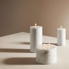 Buy Design Project by John Lewis No.118 Marble Effect Candle, Small Online at johnlewis.com