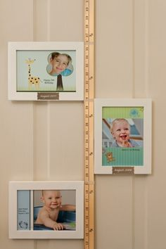 DIY Birthday Card Growth Chart using cards printed at Kodak Picture Kiosk