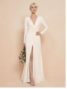 Check out the Gatsby Dress from Reformation Wedding Dress Sleeves, Long Sleeve Wedding, Dresses With Sleeves, How To Dress For A Wedding, Luxury Wedding Dress, Gatsby Dress, Plus Size Gowns, Bridesmaid Dresses, Wedding Dresses