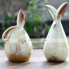 Ceramic Rabbit Shaped Coin Bank