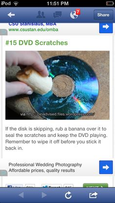 Helpful tip for DVDs and CDs