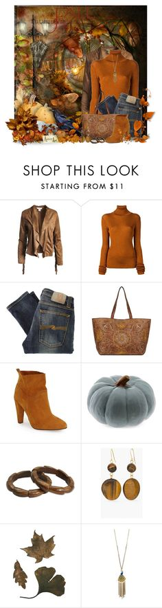 """Beautiful Autumn"" by jackie22 ❤ liked on Polyvore featuring Sans Souci, MARIOS, Nudie Jeans Co., Topshop, Chico's and Betsey Johnson"