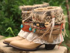 upcycled boho cowboy boots by TheLookFactory