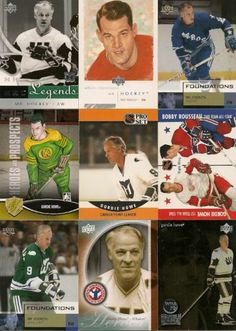 9 DIFFERENT GORDIE HOWE Hockey CARDS +FREE Shipping! Hockey Teams, Hockey Players, Ice Hockey, Hockey Cards, Baseball Cards, Collector Cards, Sports Figures, Montreal Canadiens, Detroit Red Wings