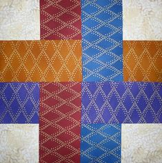 "Berrima Patchwork: Free 12"" Block: Woven Ribbons"