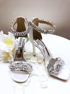 98a26567895 Step out in style with these gorgeous Badgley Mischka Fiorenza wedding shoes.  Available in the