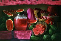 Pintor Mexicano, Pintura al Oleo, Cosas sobre Mexico. Sandia