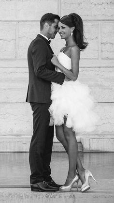 Ludivine Guillot - Robe de mariée sur mesure - Lyon - Bustier courte mouchoirs tulle dentelle glamour chic