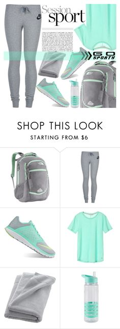 """""""Go sporty"""" by edita-m ❤ liked on Polyvore featuring The North Face, NIKE, CB2 and sportystyle"""