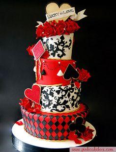 cake de boda rojo