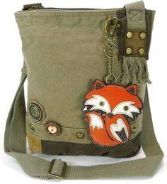 Chala Purse Handbag Crossbody Canvas with Key Chain Tote Bag Foxy Fox 31c661bfabd90