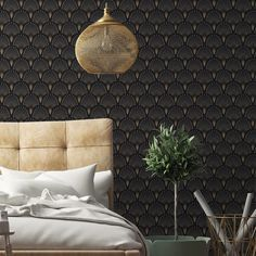 Traditional 1925 Wallpaper Papermint Adult- A large selection of Design on Smallable, the Family Concept Store - More than 600 brands. Bedroom Interior, Inspired Homes, Wallpaper, Wall Decor, Boys Wallpaper, Home Decor, Luxury Wallpaper, Childrens Bedrooms, Bathroom Under Stairs