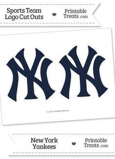 Medium New York Yankees Logo Cut Outs from PrintableTreats.com