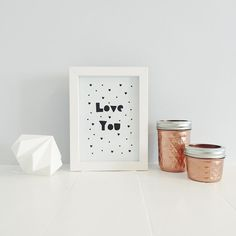 Love You print available from The Little Jones Co on Etsy