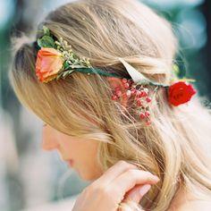 Brides: Wavy Hair with Simple Flower Crown
