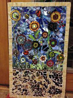 No Days Collaborative Kids Mosaic Garden Mosaic Garden, Mosaics, Elementary Schools, Adhesive, Children, Kids, Glass Art, Quilts, Blanket