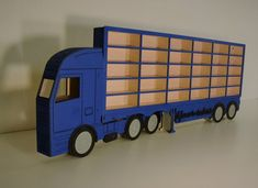 Car toy shelf storage 20-100 pockets blue Toy Shelves, Shelf, Trucks, Pockets, American, Car, Blue, Automobile, Shelves