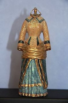 Glass Victorian Dress Mannequin Ornament, New