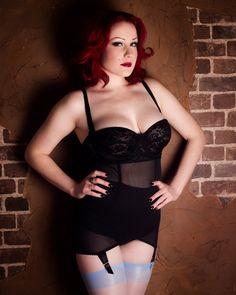Lingerie-Kiss Me Deadly girdle; Cervin stockings
