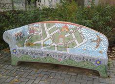 'Mijn Droombank in mijn Droombuurt/My Dream-bank in my Dream-neighborhood' in  Woensel-Zuid Eindhoven, Netherlands. November 10th, 2013