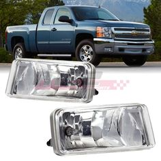 Crystal Clear Fog Light Bumper Lamps for 07-15 Chevy Silverado//Suburban//Sierra