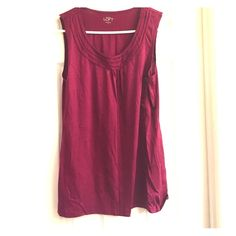 LOFT dark pink sleeveless top Adorable sleeveless top! LOFT Tops