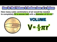 How can I find the volume and surface area of a sphere? - YouTube